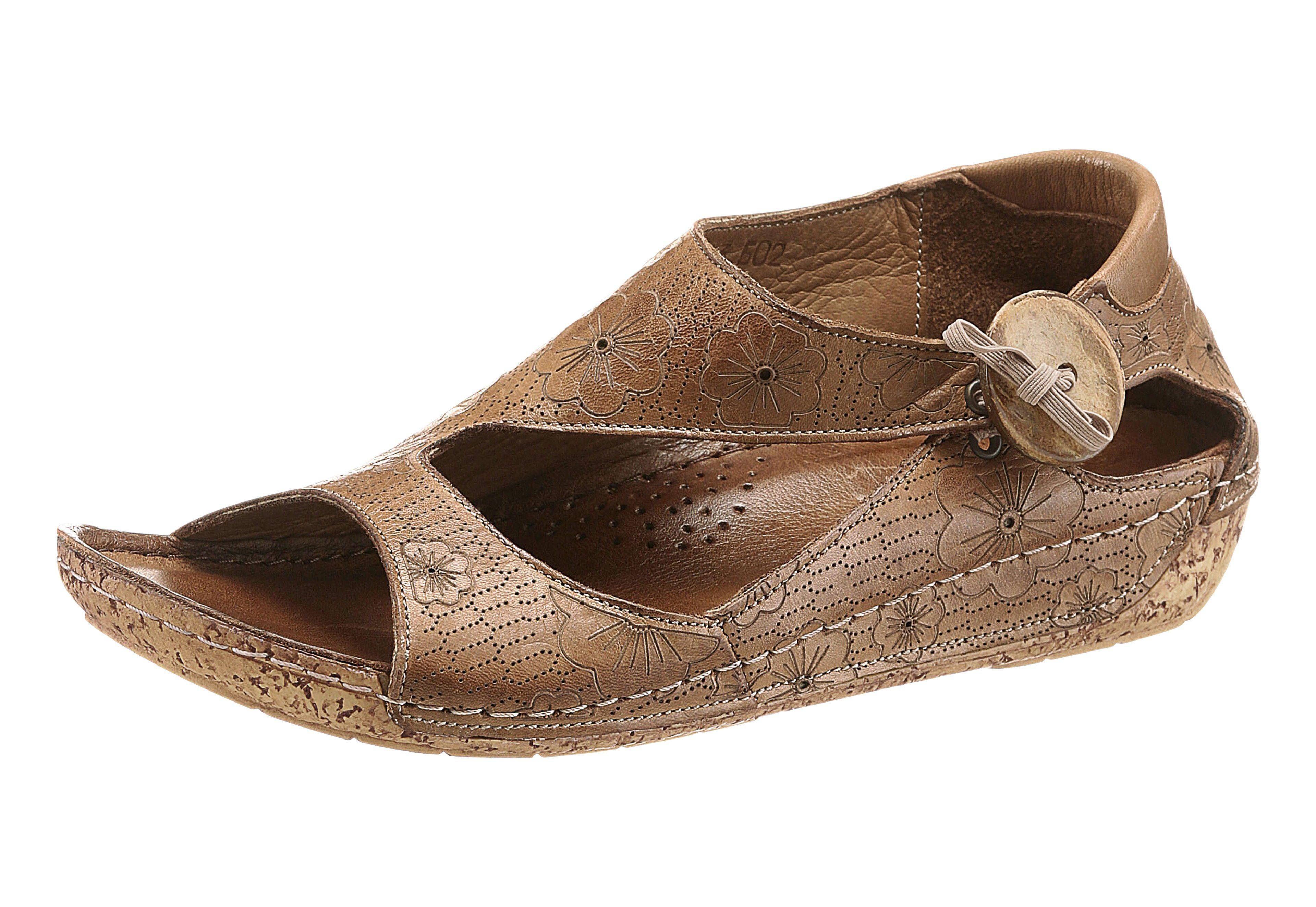 Gemini Sandalette mit Blumen-Muster online kaufen  braun