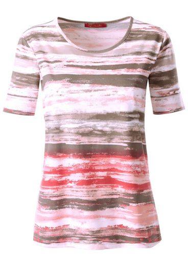 Collection L. Shirt im weichen Materialmix