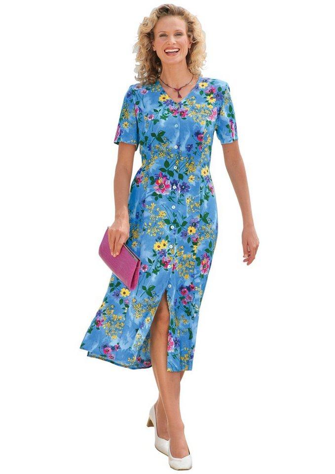 Damen Classic Basics Kleid mit Seitenschlitzen blau | 08693458049770