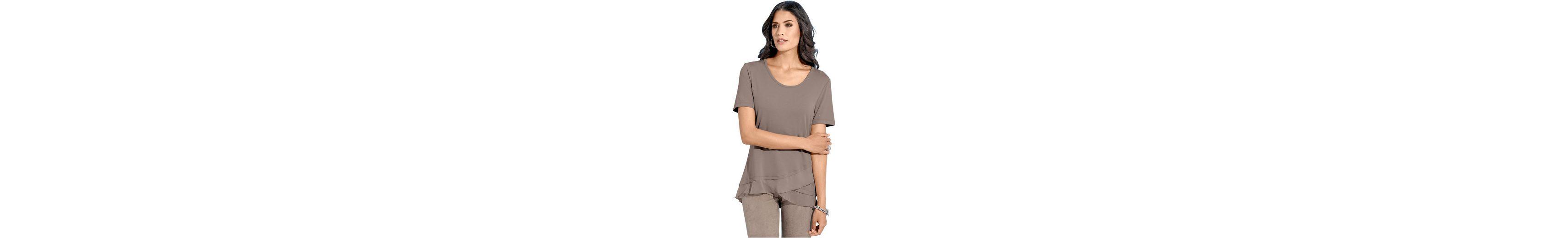 Rabatt 2018 Neue Niedriger Preis Zu Verkaufen Création L Shirt mit Volants aus feinem Chiffon Preiswerte Qualität it9SJ0oqqM