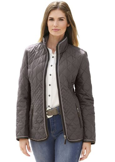 Collection L. Quilted Jacket With Figure-friendly Wrap-desertification
