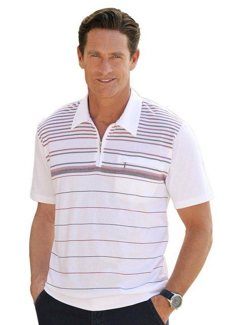 classic -  Kurzarm-Shirt mit konfektioniertem Kragen und Reißverschluss