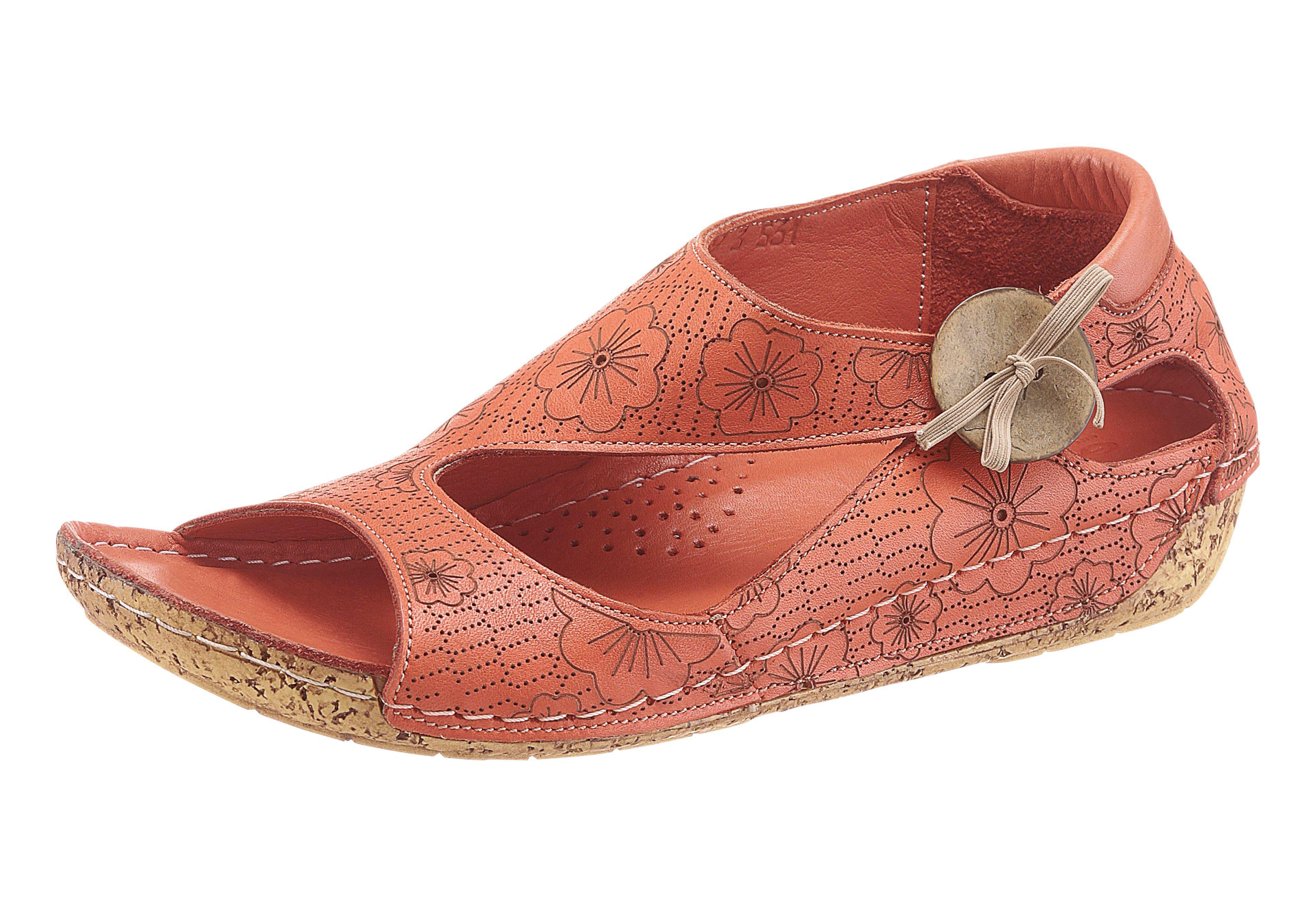 Gemini Sandalette mit Blumen-Muster online kaufen  korallenrot