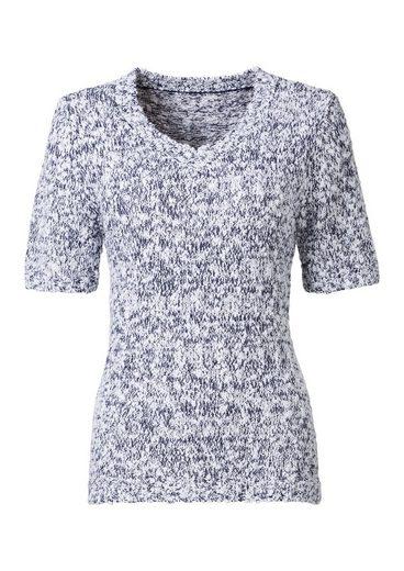 Classic Basics Pullover in zweifarbiger Bouclé-Qualität