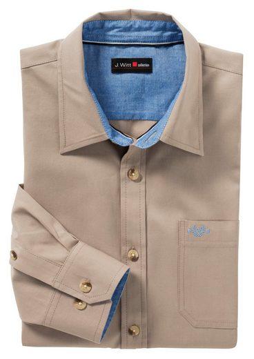 Marco Donati Langarm-Hemd mit abgerundetem Saum