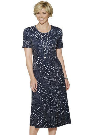 Classic Jersey-Kleid mit angesagtem Patchwork-Tupfen-Druck