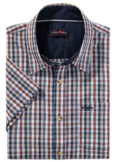 Marco Donati Kurzarm-Hemd mit abgerundetem Saum