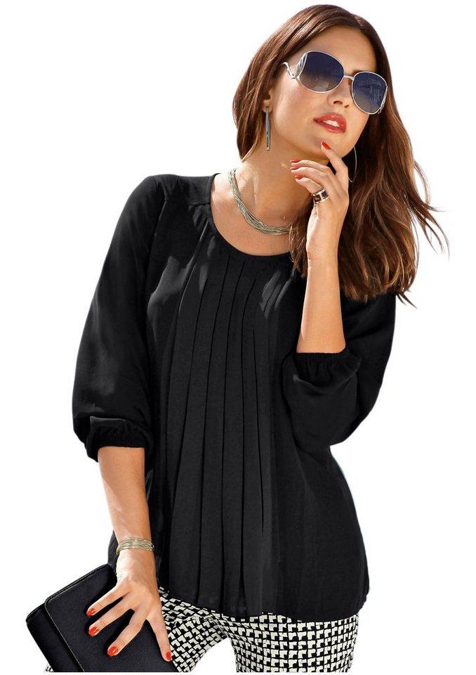 cr ation l bluse mit plissee falten online kaufen otto. Black Bedroom Furniture Sets. Home Design Ideas