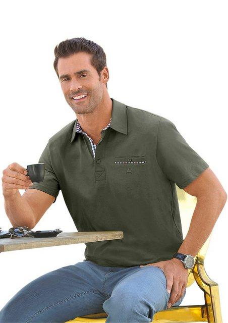 marco donati -  Kurzarm-Shirt mit Polokragen