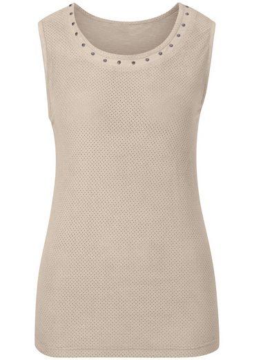 Classic Inspirationen Shirttop in Veloursleder-Optik