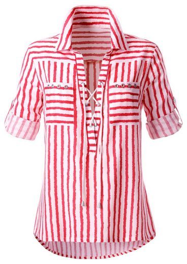 Classic Inspirationen Bluse mit trendigen Streifen Dessin