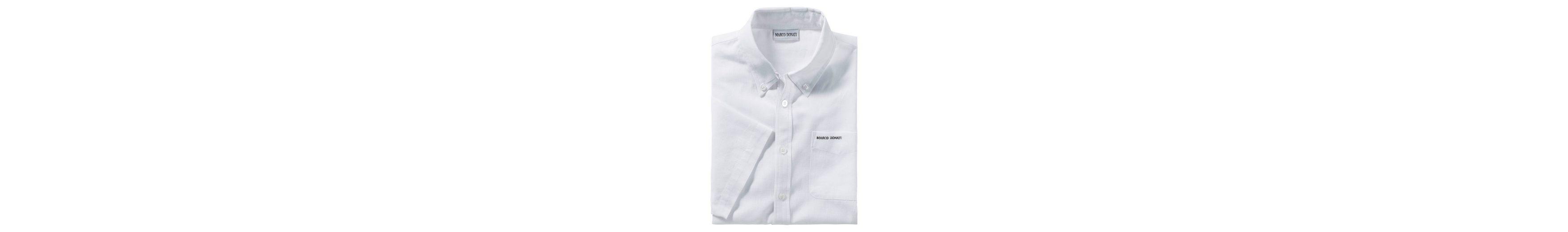 Marco Donati Kurzarm-Hemd in Leinenstruktur Auslass Erstaunlicher Preis Viele Arten Von Zum Verkauf kUNtkV8gCB