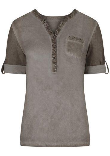Classic Inspirationen Bluse mit dekorativen Ziernieten