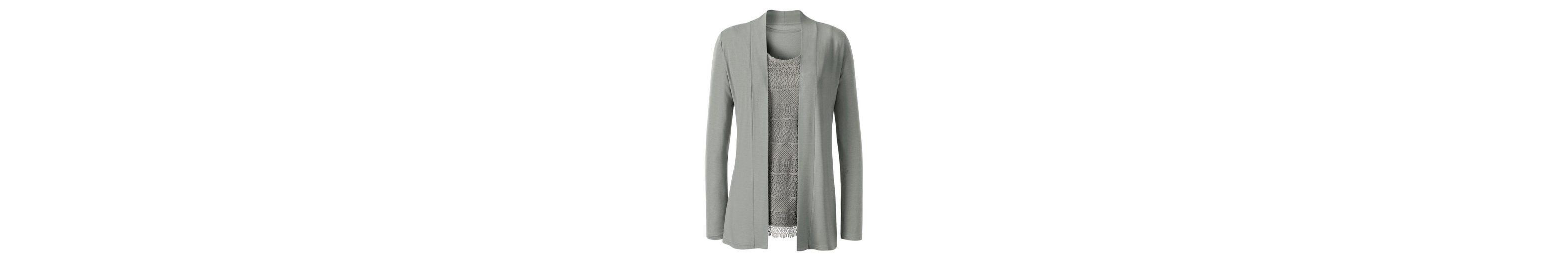 Lady Shirtjacke mit Schalkragen Qualität Outlet-Store 0KAPn3M