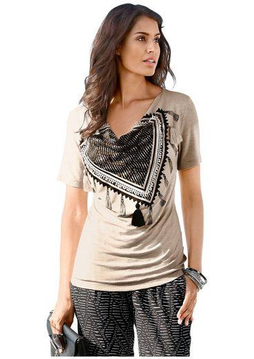 Classic Inspirationen Shirt mit Wasserfall-Ausschnitt