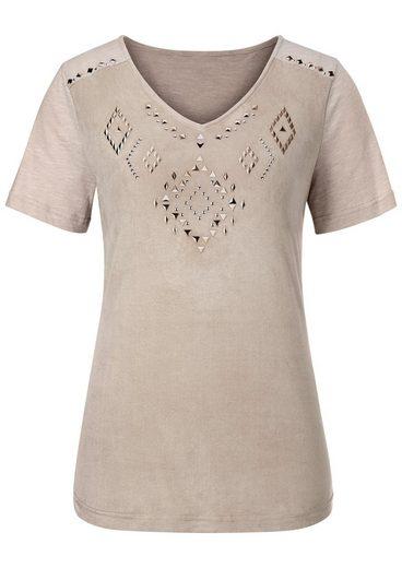 Classic Inspirationen Shirt aus weichem Veloursleder-Imitat