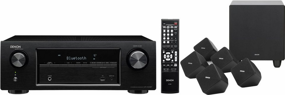 denon receiver avr x520 5 1 lautsprecher sys2020 set 5. Black Bedroom Furniture Sets. Home Design Ideas