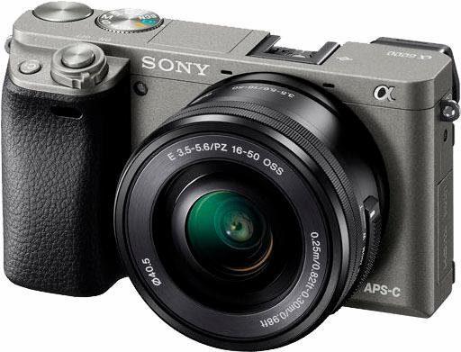 Sony ILCE-6000L System Kamera, E PZ 16-50 mm F3,5-5,6 OSS Zoom, 24,3 Megapixel