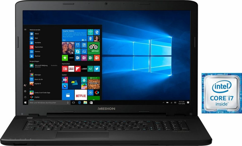 Medion® ERAZER P7643 (MD60404) Notebook, Intel® Core™ i7, 43,9 cm (17,3 Zoll), 16384 MB DDR3L