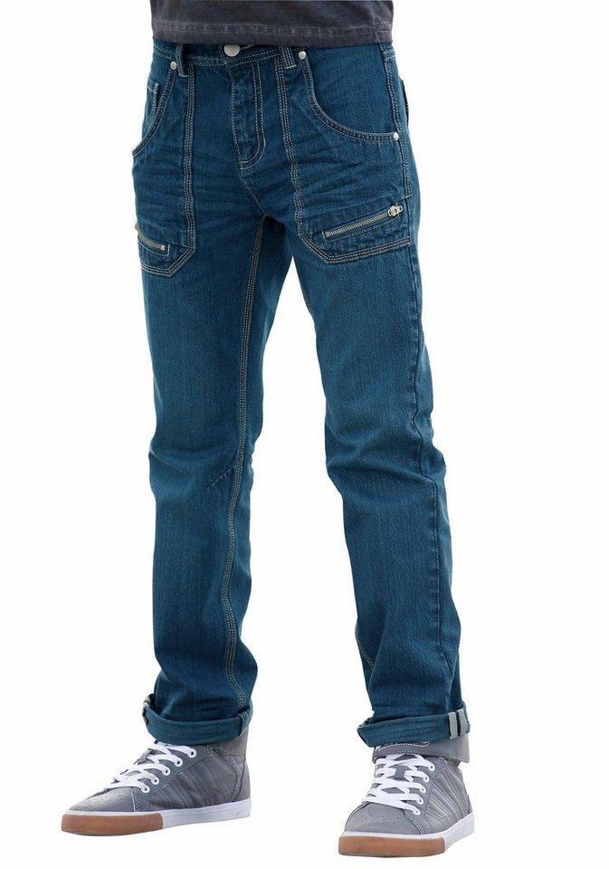 Buffalo Regular-fit-Jeans mit geradem Bein in blue-denim