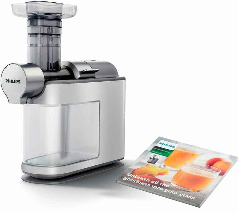 Philips Slow Juicer Avance HR1945/80, 200 W, für kaltes Pressen, weiß/grau