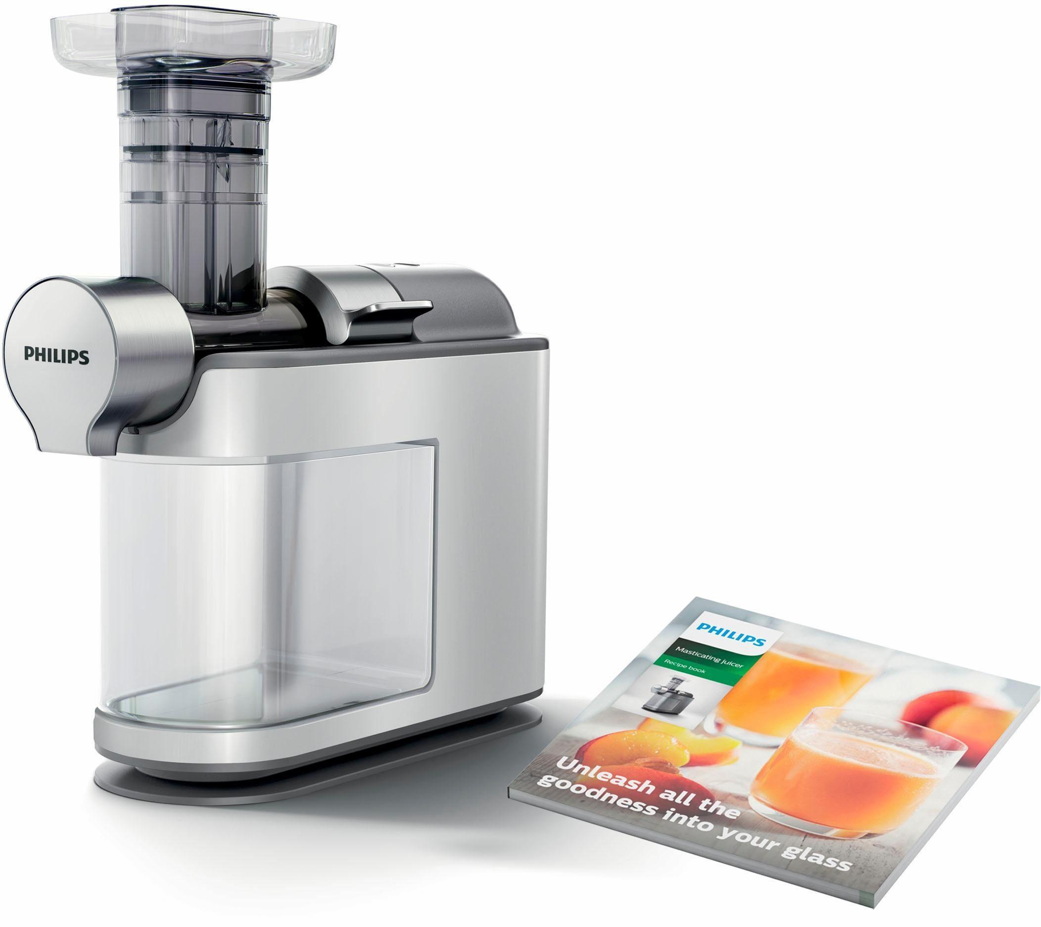 Philips Entsafter Avance Slow Juicer HR1945/80, 200 W, 200 W, für kaltes Pressen