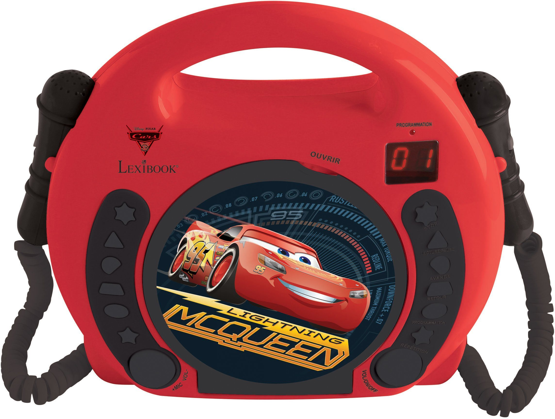 Lexibook, Kinder Karaoke CD Player mit 2 Mikrofonen, »Disney Pixar Cars«