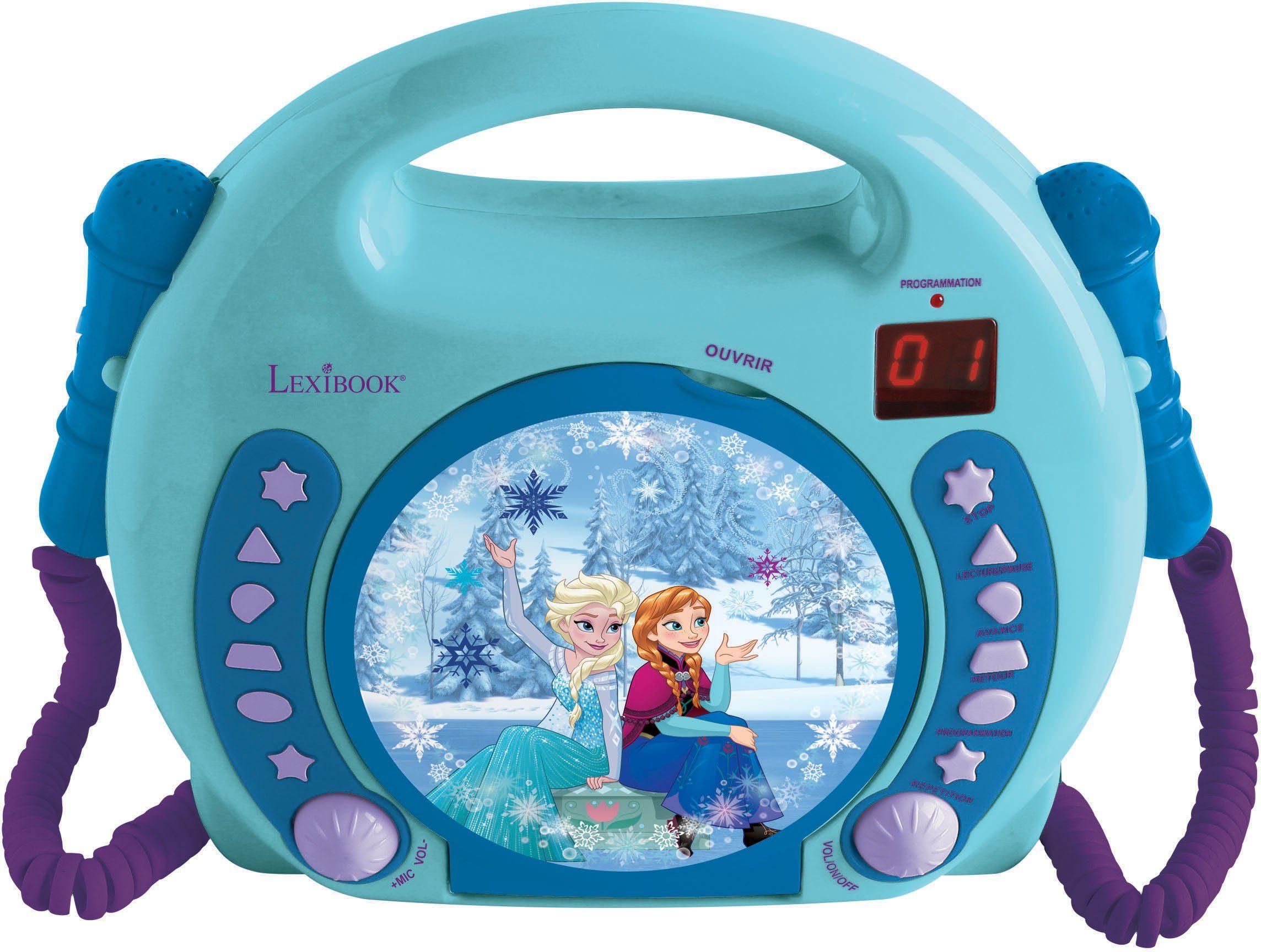 Lexibook, Kinder Karaoke CD Player mit 2 Mikrofonen, »Disney Pixar Frozen«