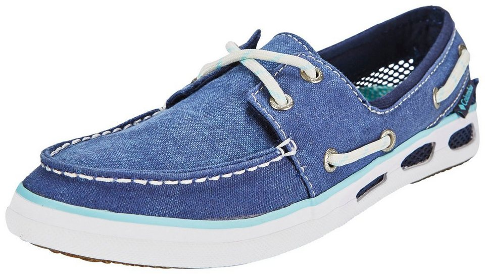 Columbia Freizeitschuh »Vulc N Vent Boat Canvas Shoes Women« in blau