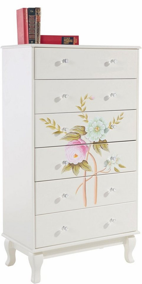 home affaire highboard flowerful mit blumen handbemalung breite 70 cm online kaufen otto. Black Bedroom Furniture Sets. Home Design Ideas