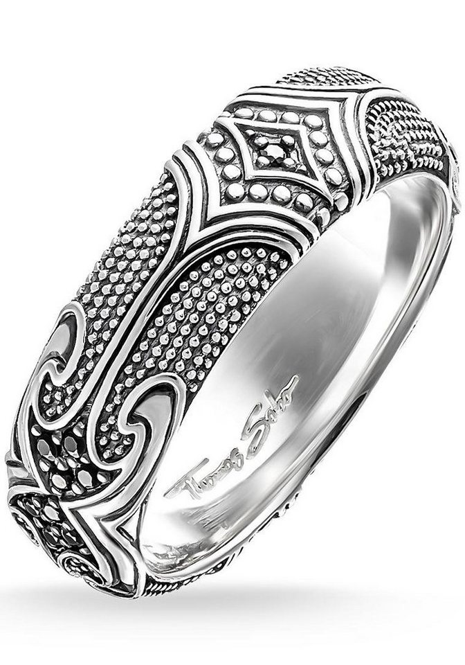 Thomas Sabo Silberring »Ring, TR2100-643-11-50, 54, 58, 60, 64, 66« mit Zirkonia in Silber 925-schwarz