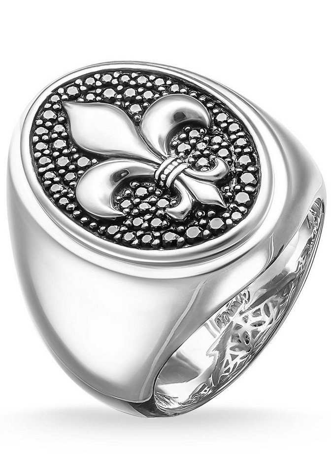 Thomas Sabo Silberring »Ring, TR1803-051-11-60, 64, 66« mit Zirkonia in Silber 925-schwarz