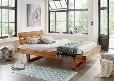 Schön Premium Collection By Home Affaire Bett »Ultima« Aus Massivem Holz In  Balken Optik