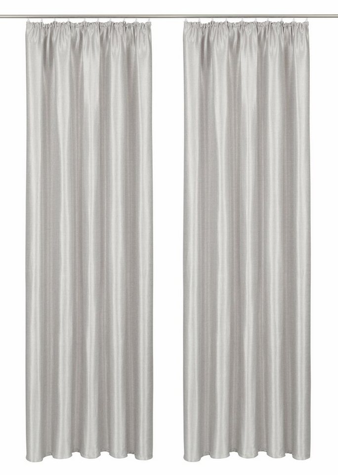 Vorhang, GMK Home & Living, »Glow« Kräuselband (2 Stück) in silberfarben