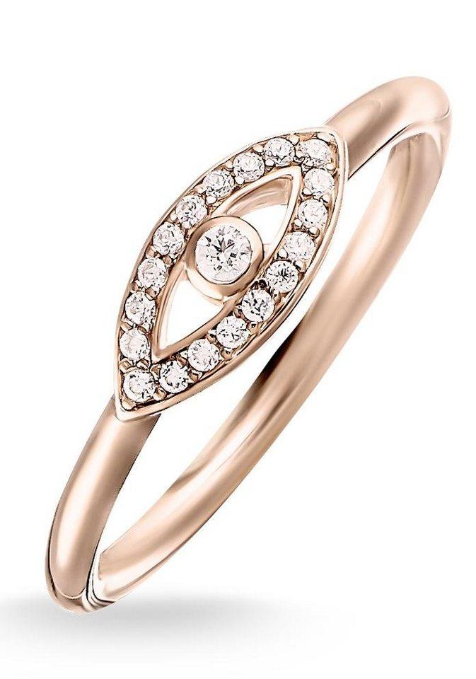 Thomas Sabo Silberring »Ring, TR2075-416-14-50, 54, 58, 60« mit Zirkonia in roségoldfarben