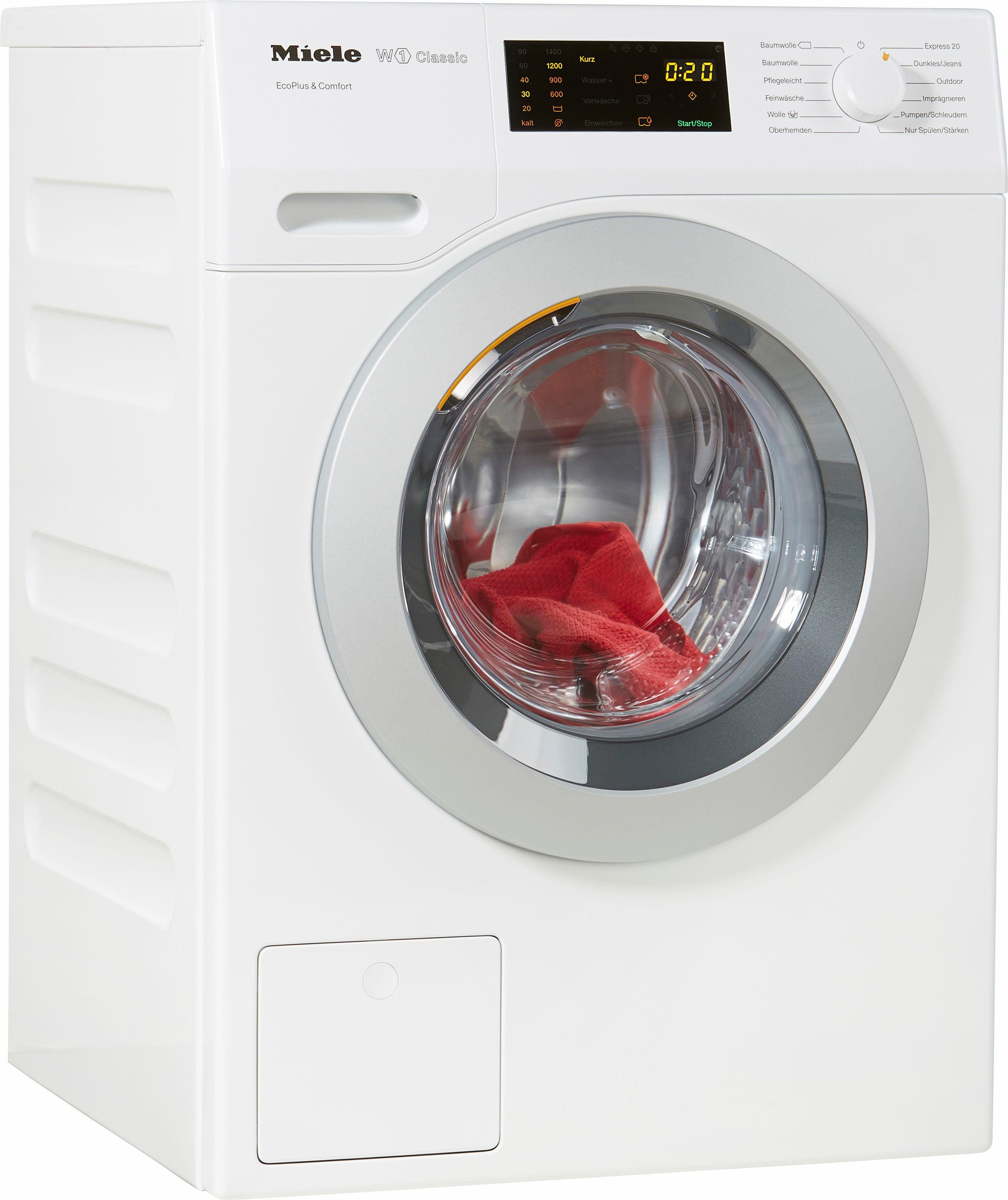 MIELE Waschmaschine WDD030WPS D LW EcoPlus&Comfort, A+++, 8 kg, 1400 U/Min