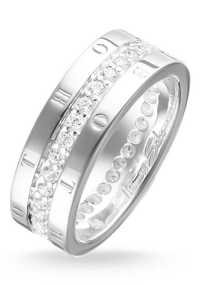 Thomas Sabo Silberring »Ring, TR1701-051-14-50, 54, 58, 60« mit Zirkonia in Silber 925