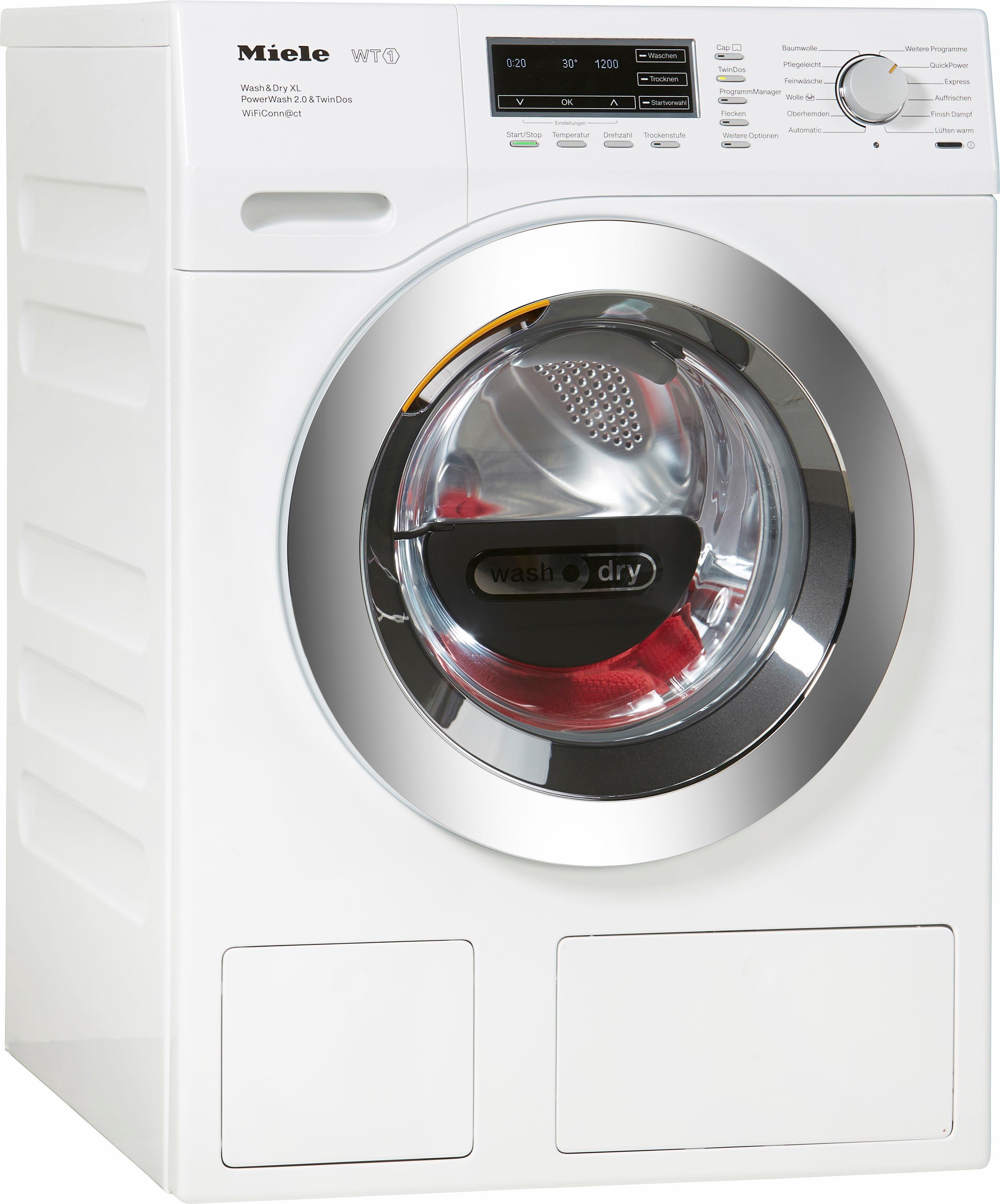 Miele Waschtrockner WTZH730WPM PWash2.0&TDosXL Wif D, 8 kg/5 kg, 1600 U/Min