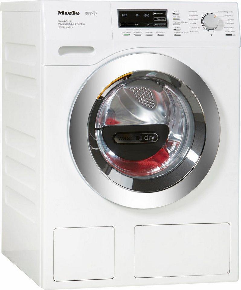 MIELE Waschtrockner WTZH730WPM PWash2.0&TDosXL Wif D, A, 8 kg / 5 kg, 1.600 U/Min in weiß