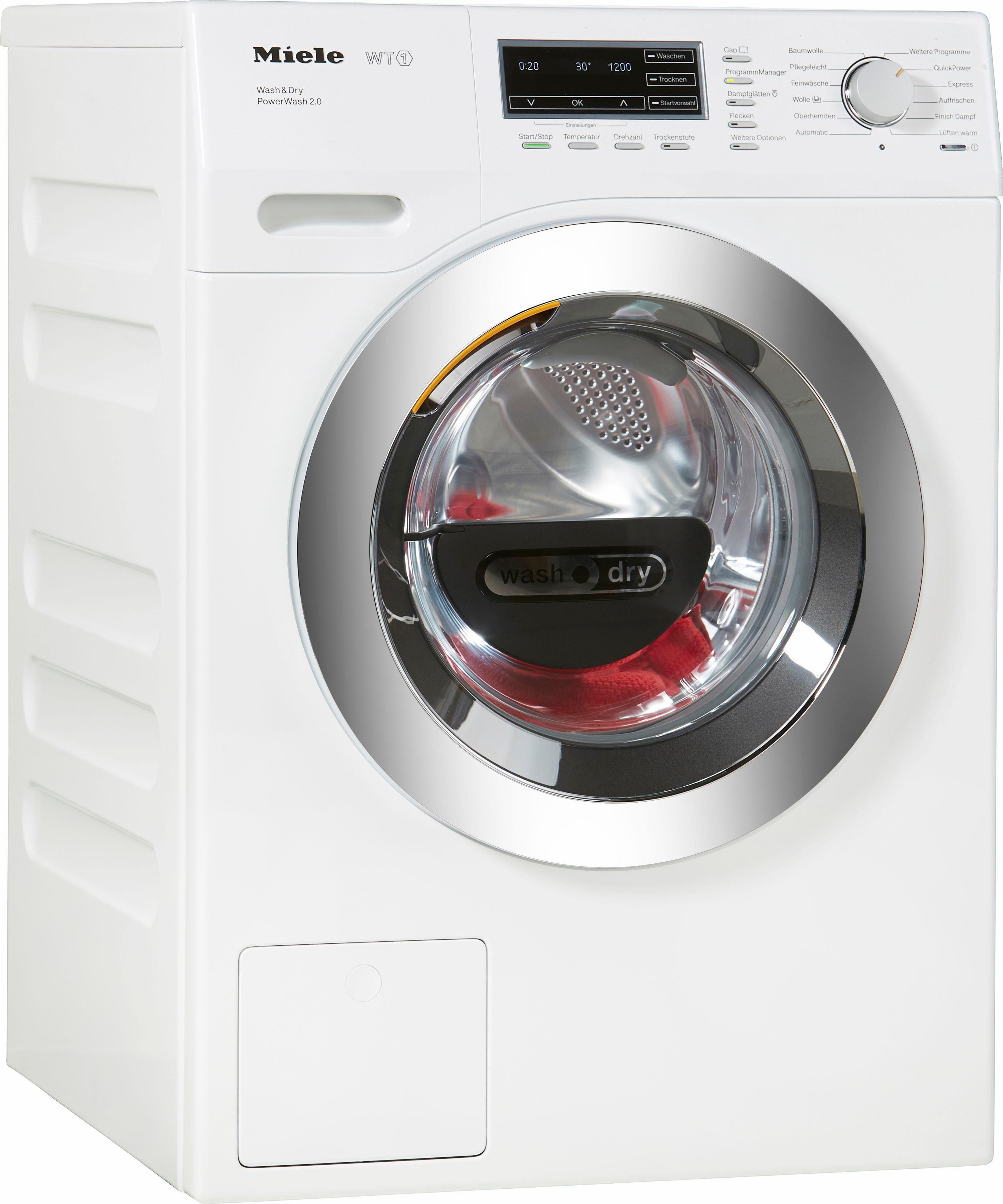 MIELE Waschtrockner WTF130 WPM PWash 2.0 D, A, 7 kg / 4 kg, 1.600 U/Min