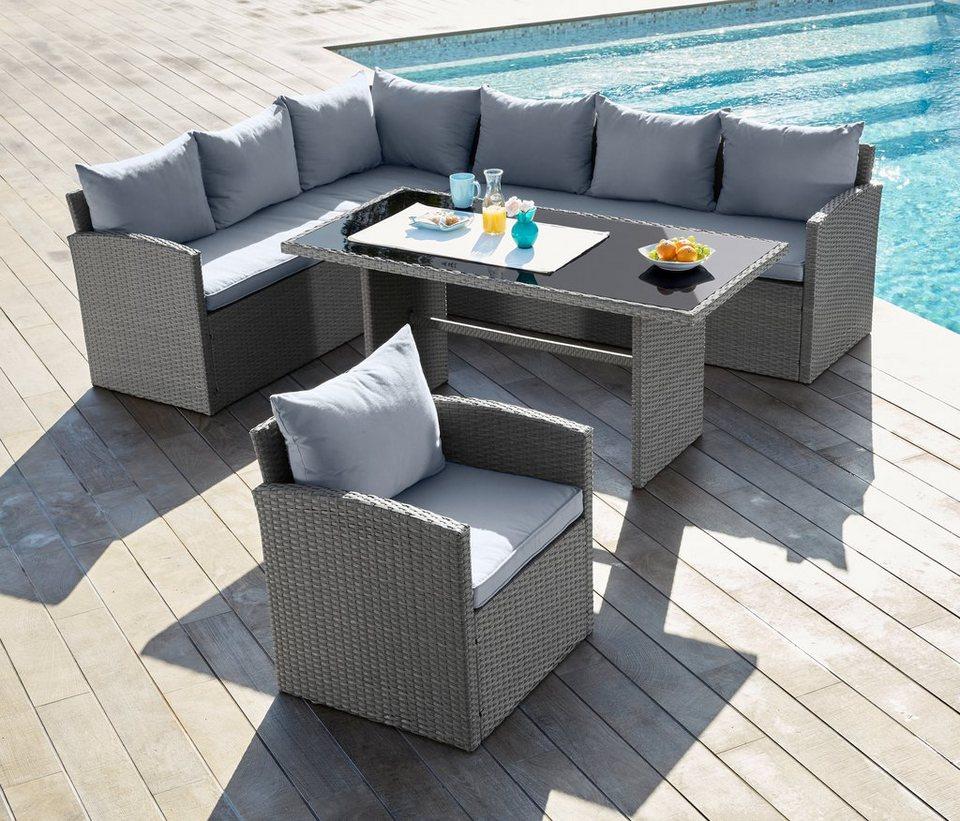 emejing gartenmobel polyrattan grau contemporary house. Black Bedroom Furniture Sets. Home Design Ideas