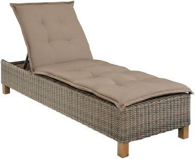 gartenliege toskana polyrattan natur inkl auflage. Black Bedroom Furniture Sets. Home Design Ideas