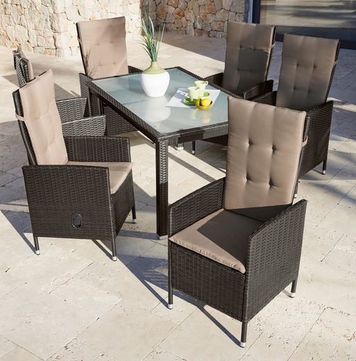 gartenm belset madrid 13 tlg 6 hochlehner tisch. Black Bedroom Furniture Sets. Home Design Ideas