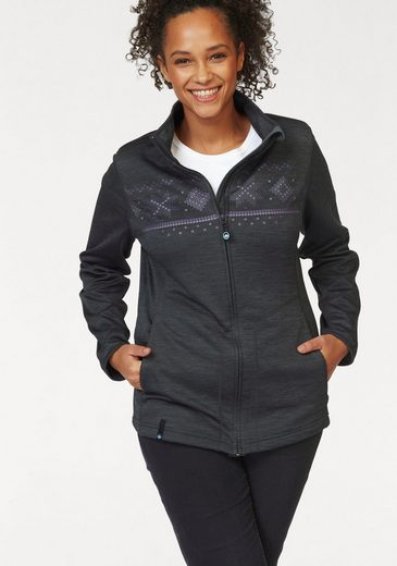 Polarino Sweatjacke, innen mit warmem Fleece