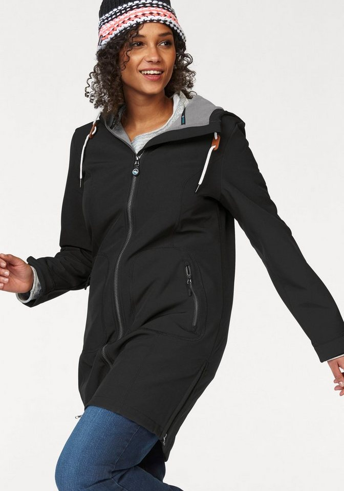 Polarino Softshellmantel auch in Großen Größen erhältlich | Sportbekleidung > Sportmäntel > Softshellmäntel | Schwarz | Polarino