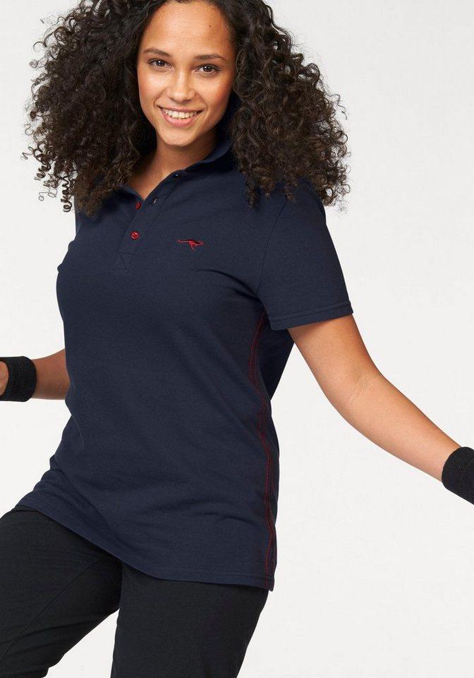 Damen KangaROOS Poloshirt Große Größen blau | 06950452546936