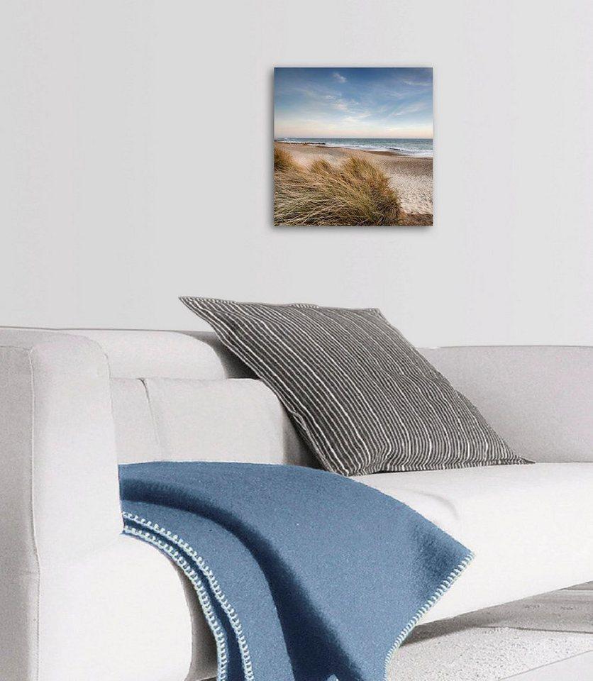 Eurographics Deco Panel »Dunes at Hengistbury Head«, 30/30 cm in blau/grün