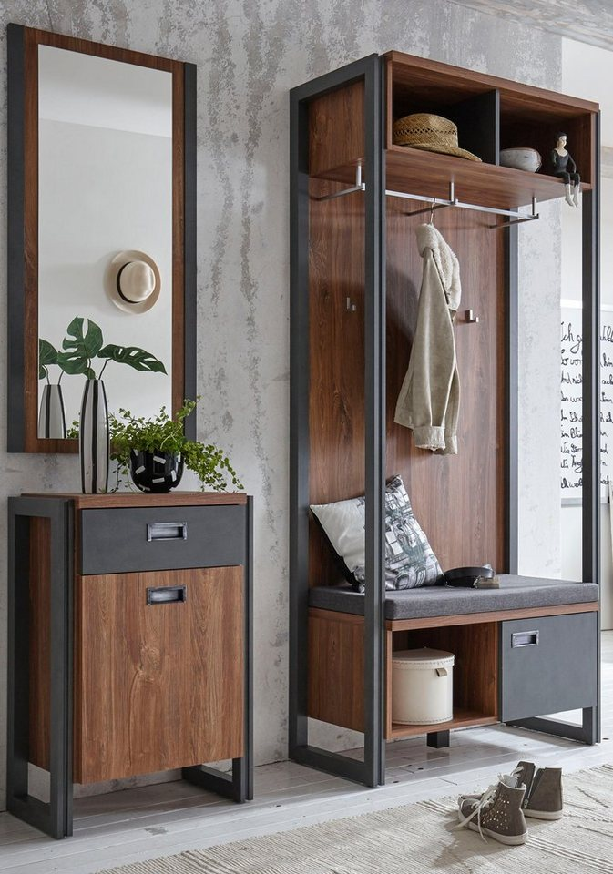 home affaire garderobe detroit 90 cm breit im angesagten industrial look online kaufen otto. Black Bedroom Furniture Sets. Home Design Ideas
