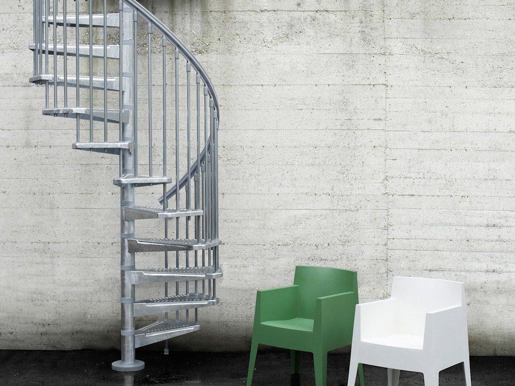 STARWOOD Außentreppe »Steel Zink«, Ø: 140 cm, grau