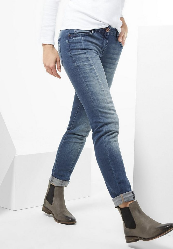 CECIL Washed Look Denim Charlize in mid blue used wash